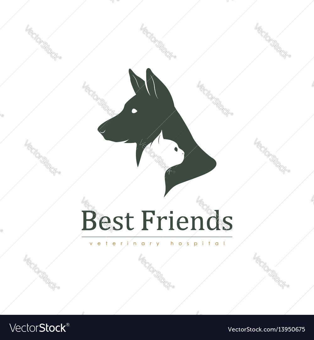 Veterinary Clinic With Cat And Dog Logo Vector Image On Dog Logo