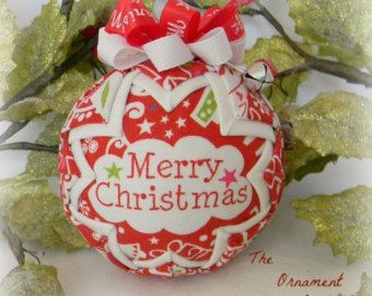 Silver and Gold Christmas Ornament Quilted by OrnamentBoutique