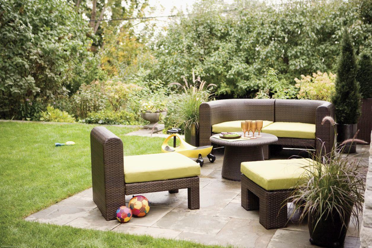 die terrasse neu gestalten, Gartengerate ideen