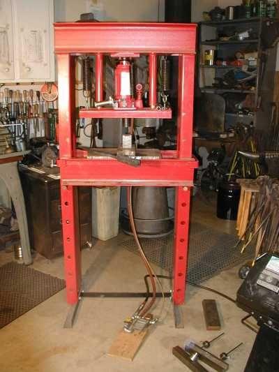 Poor Man\u0027s Hydraulic Press Metalwork Pinterest - fabrication presse hydraulique maison