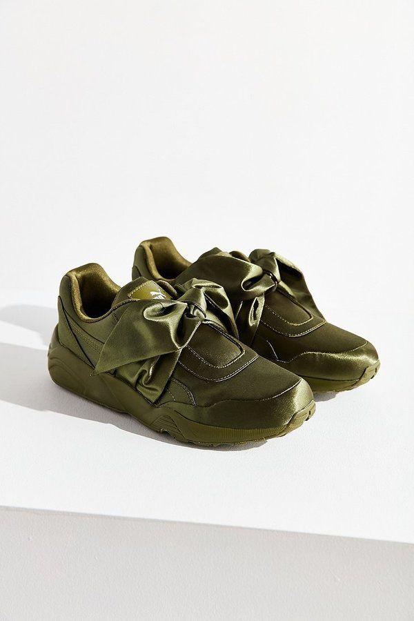 0601cd64c0 Puma Fenty by Rihanna Satin Bow Sneaker#promo | KHAKI Green Summer ...