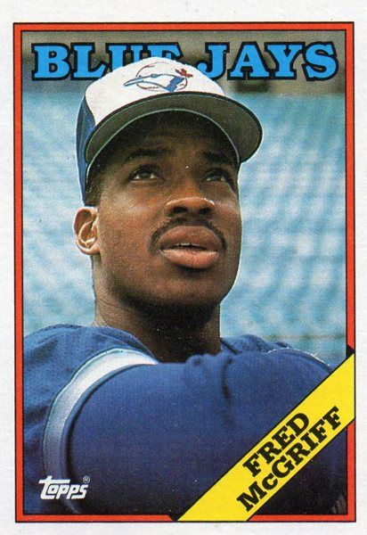 1988 Topps Baseball Card Blue Jays Fred Mcgriff Jocks Baseball