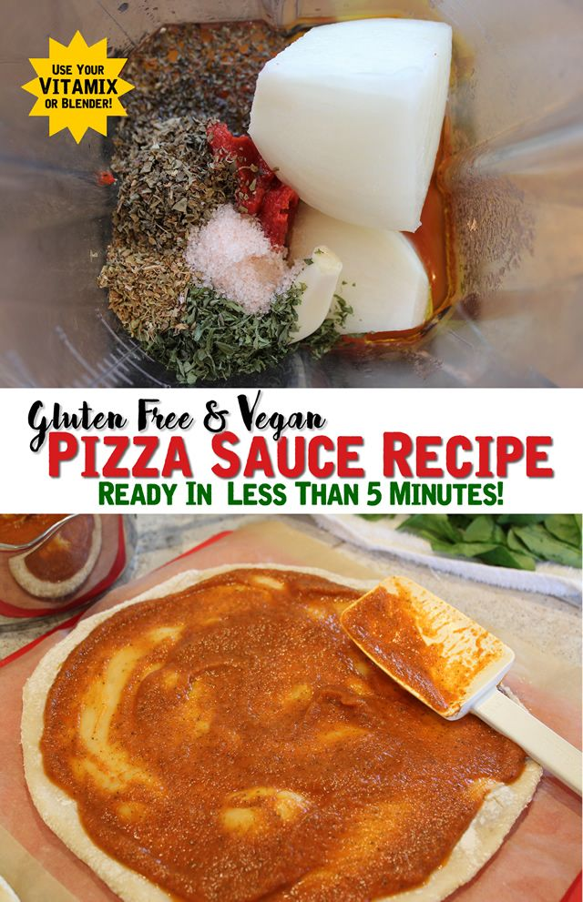 Quick Pizza Sauce Recipe In The Vitamix Gluten Free Vegan