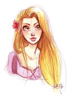 Actual Rapunzel Tumblr Doodle Le Do Disney Fan Art Disney
