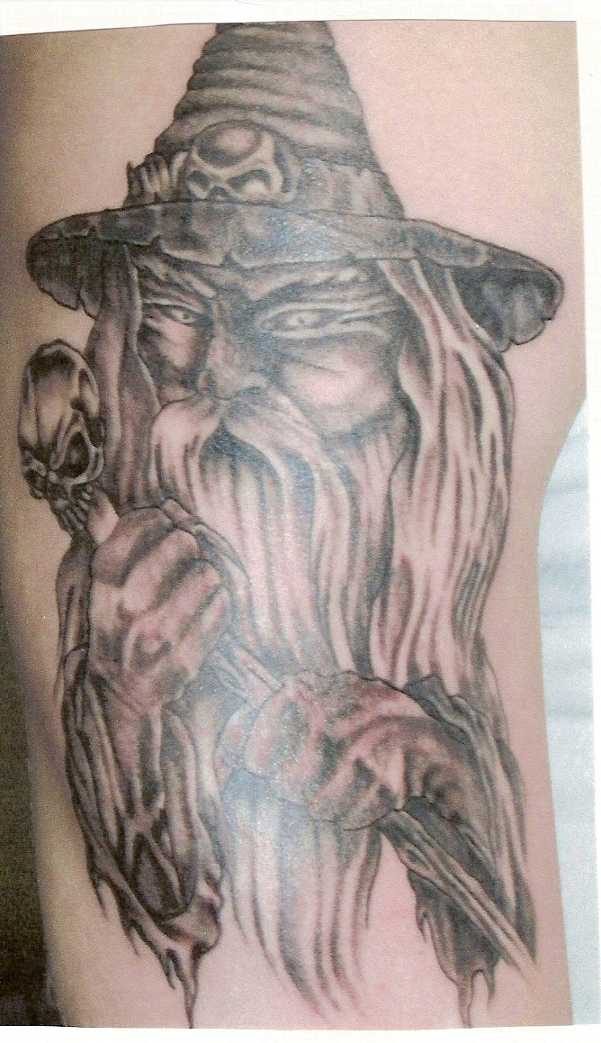 Wizard tattoos designs can come in a variety of different for Wizard tattoo designs