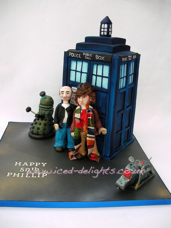 Dr Who cake Tom Baker Tardis K9 designed by wwwiceddelightscouk