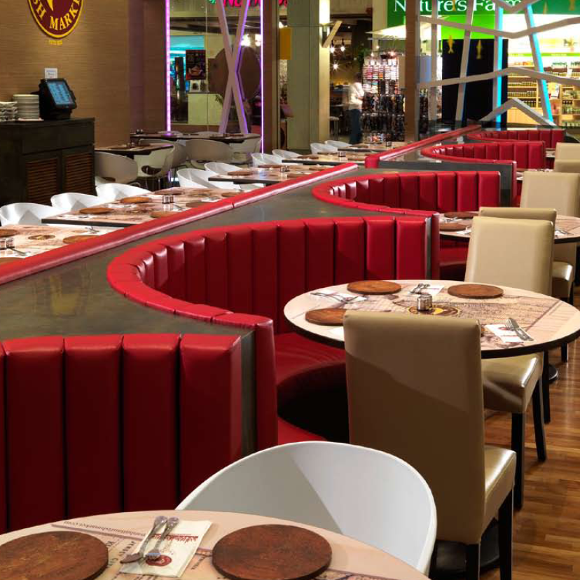 De Cuero Real Moderno C 237 Rculo Restaurante Cabina De