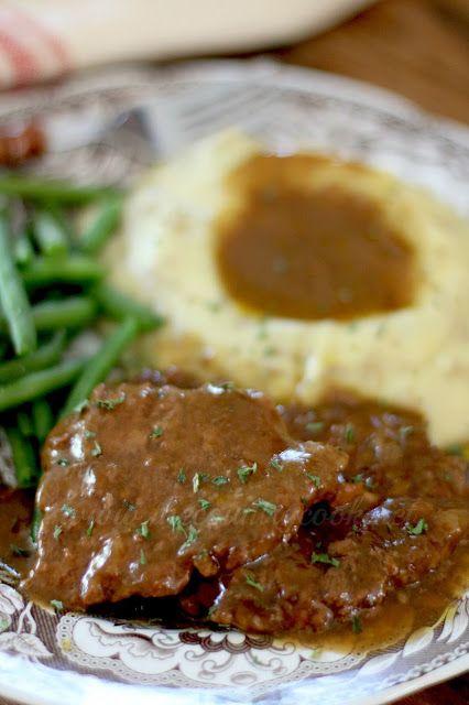 Crock Pot Cubed Steak With Gravy Recipe Cube Steak Recipes Food Recipes Cube Steak Gravy