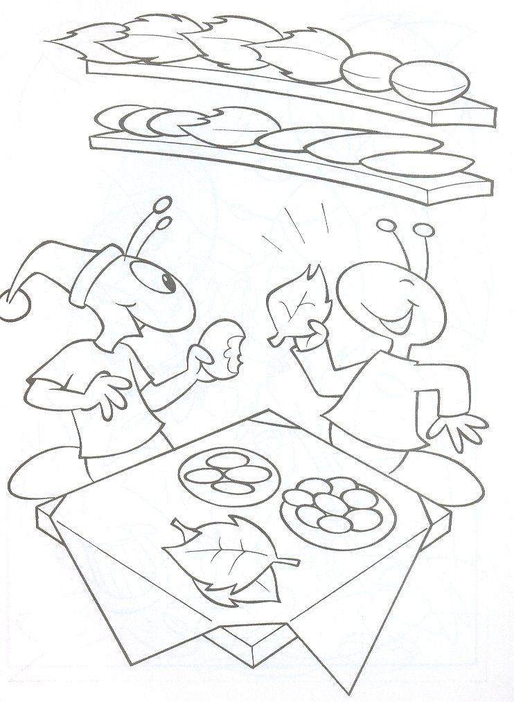 Desenho Da Cigarra E A Formiga Para Colorir Dicas Pra Mamae