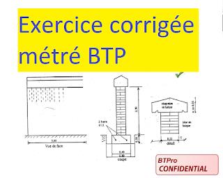 Exercice Corrige Metre Pour Batiment Pdf Genie Civil Lecture De Plan Exercice