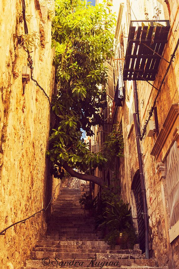 Croatia travel photograph Dubrovnik art fine by behindmyblueeyes