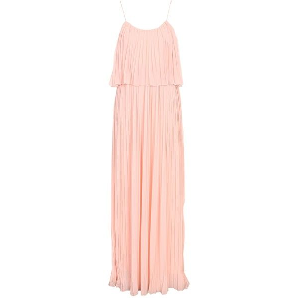 2b62714191c Club L Chiffon Pleated Overlay Maxi Dress ( 66) ❤ liked on Polyvore  featuring dresses