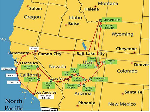 Parchi Usa Cartina.Cartina Usa Il Nostro Tour On The Road Percorso Parchi Americani Dell Ovest Mappa Itinerario Parchi Viaggi Diari Di Viaggio