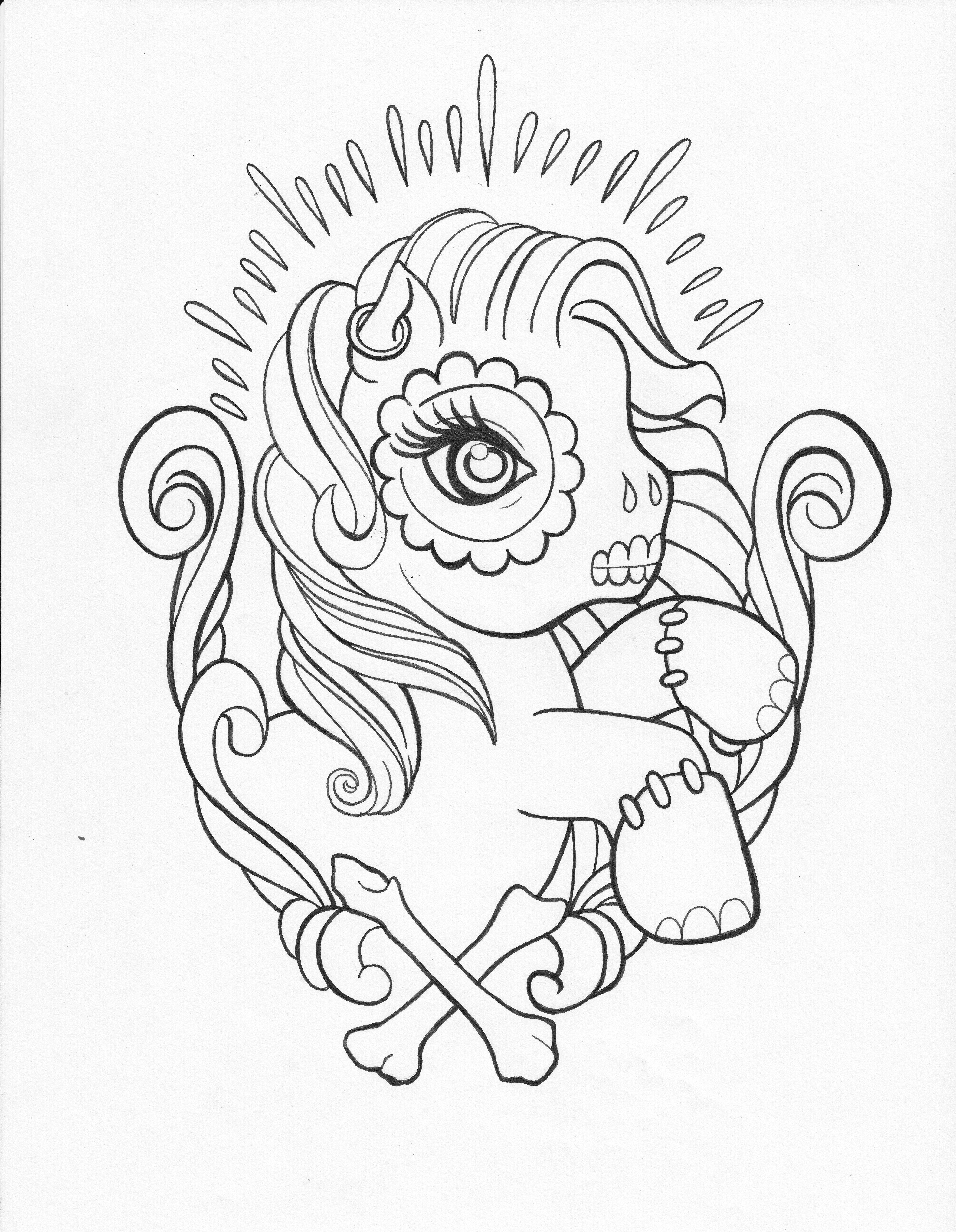 Skull Coloring Pages For Girls | Coloring Pages | Pinterest | Adult ...