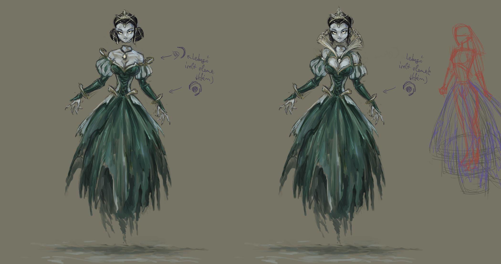 Lady Katarina concept art - The Incredible Adventures of Van Helsing