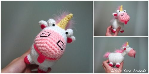 Crochet Pattern: Lil\' Fluffy Unicorn (Despicable Me) | Amigurumi ...