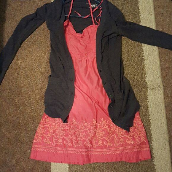 408e7ef8d Aeropostal coral dress(doesn t come with cardigan) Pink coral dress ...