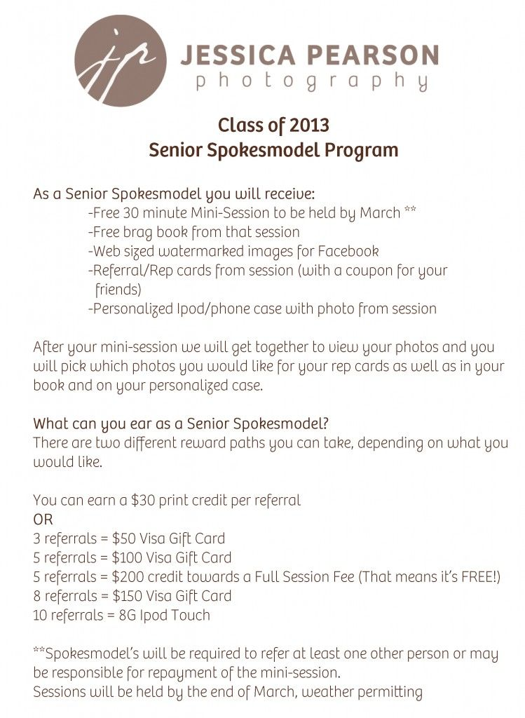 Check Out My Senior Rep Program If You Know Of Anyone Who Would