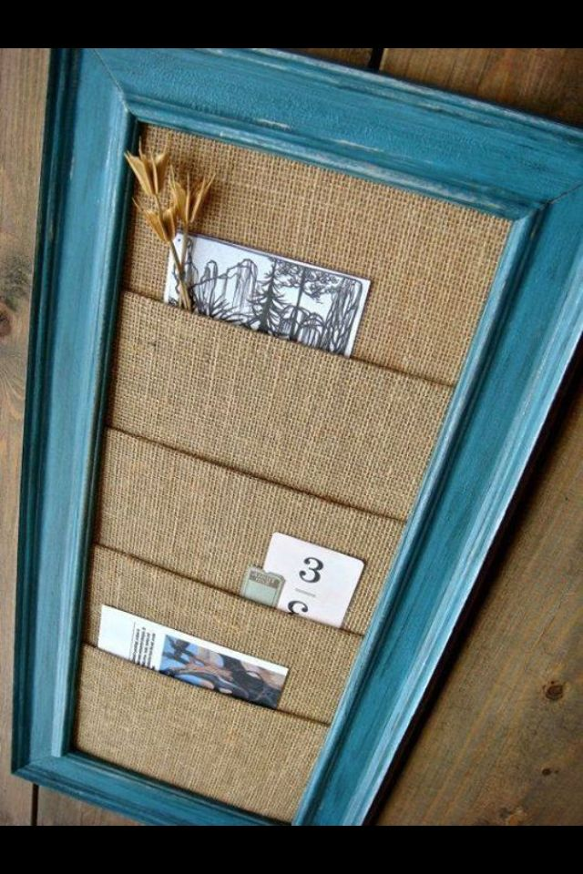 Burlap Frame Organizer   Frame and Window Projects ...