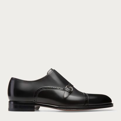 "CLASSICS : "" Bally's Monk Strap Italian cut dress loafer .. """