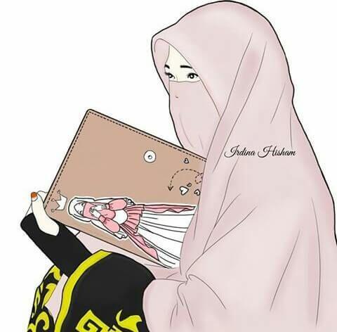 300 Gambar Kartun Muslimah Bercadar Cantik Sedih Keren Lengkap Kartun Gambar Ilustrasi Karakter