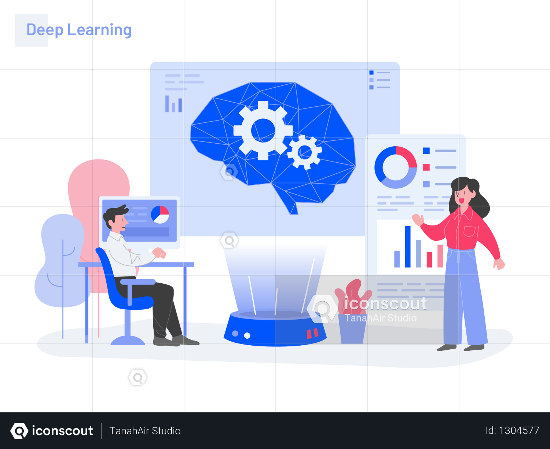 Premium Deep Learning Illustration Concept Illustration Download In Png Vector Format Deep Learning Concept Design Illustration