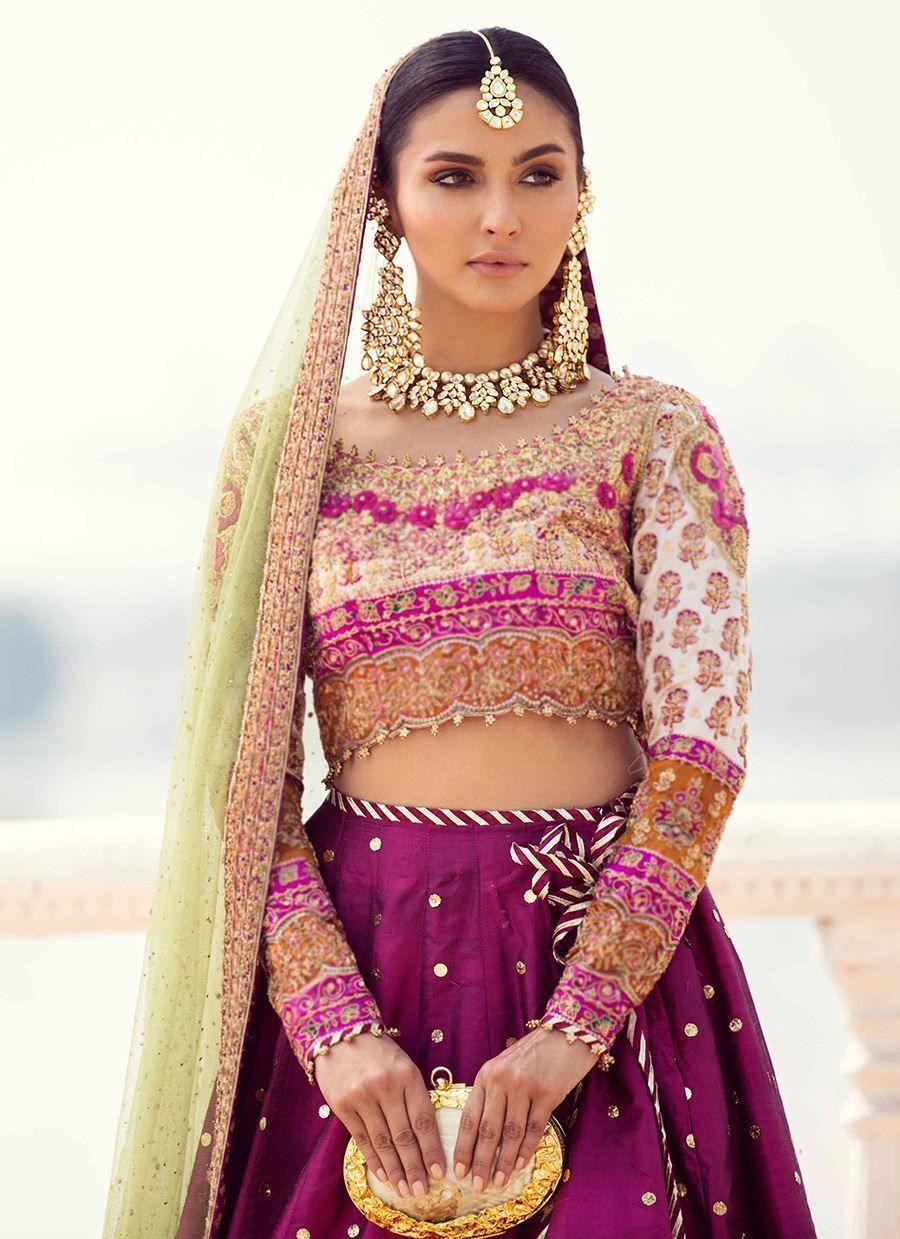 Farah talib aziz bridal lengha pakistani bridal dresses