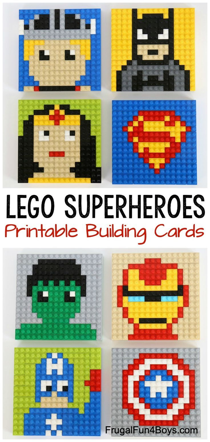 LEGO Superhero Building Cards - Frugal Fun For Boys and Girls