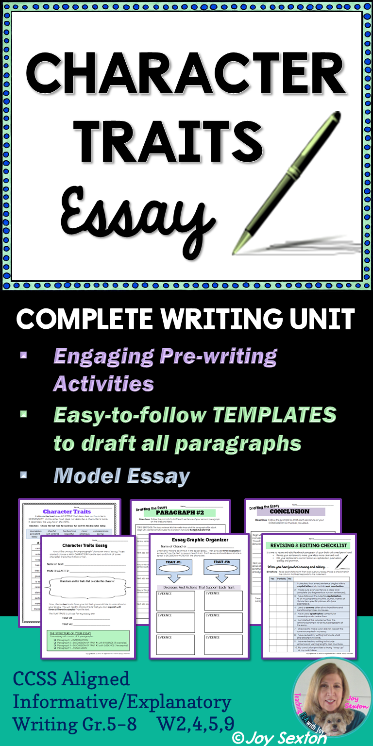 character traits essay literary essay writing for any text character traits essay informative writing here s a literary essay made easy and ready to use any text this step by step resource is designed to