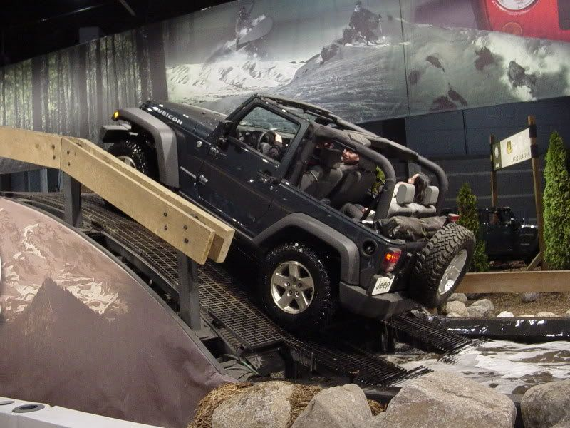 Jeep Off Road Course Chicago Auto Show Chicago Auto Show Jeep