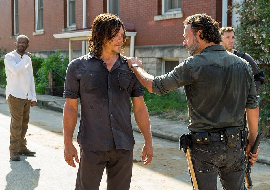 "Daryl and Rick. The Walking Dead S07 E09 ""Rock in the Road."" Season 7, Episode 9."