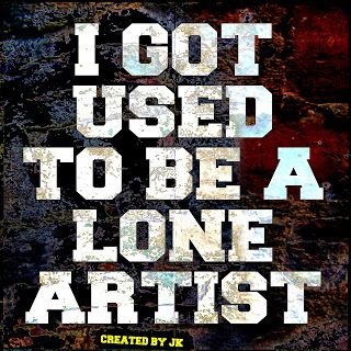 Mijn T-shirt-prints: I Got Used To Be A Lone Artist