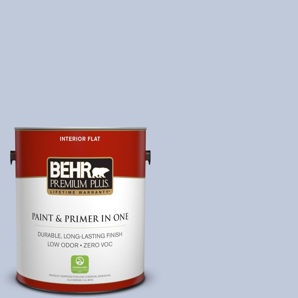 BEHR Premium Plus 1-gal. #600E-3 Icy Brook Zero VOC Flat Interior Paint