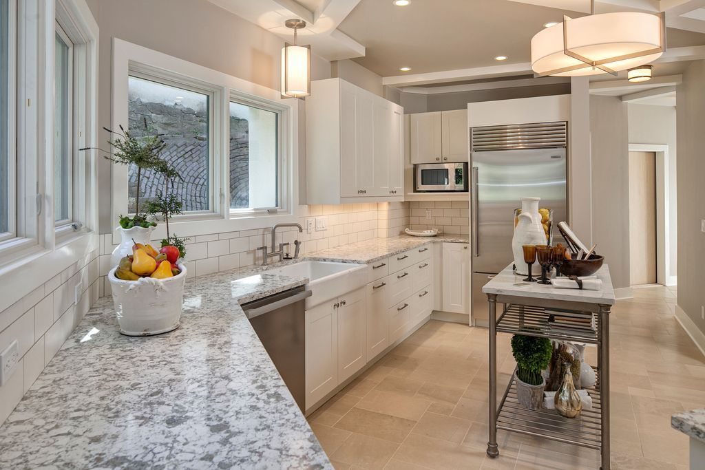 Best Contemporary Kitchen With Flush L Shaped Complex Granite 400 x 300
