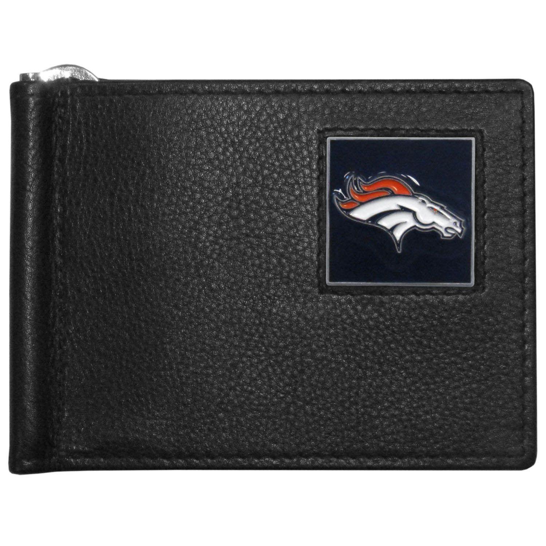 Denver Broncos Leather Bill Clip Wallet