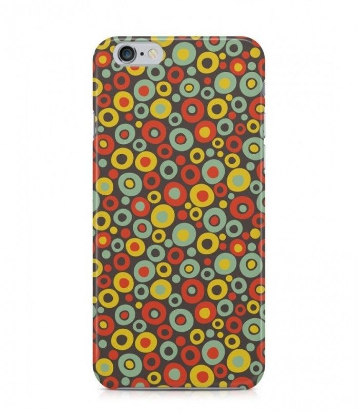 Red and Yellow Round Abstract Seamless 3D Iphone Case for Iphone 3G/4/4g/4s/5/5s/6/6s/6s Plus - ABSTSEAM0144 - FavCases
