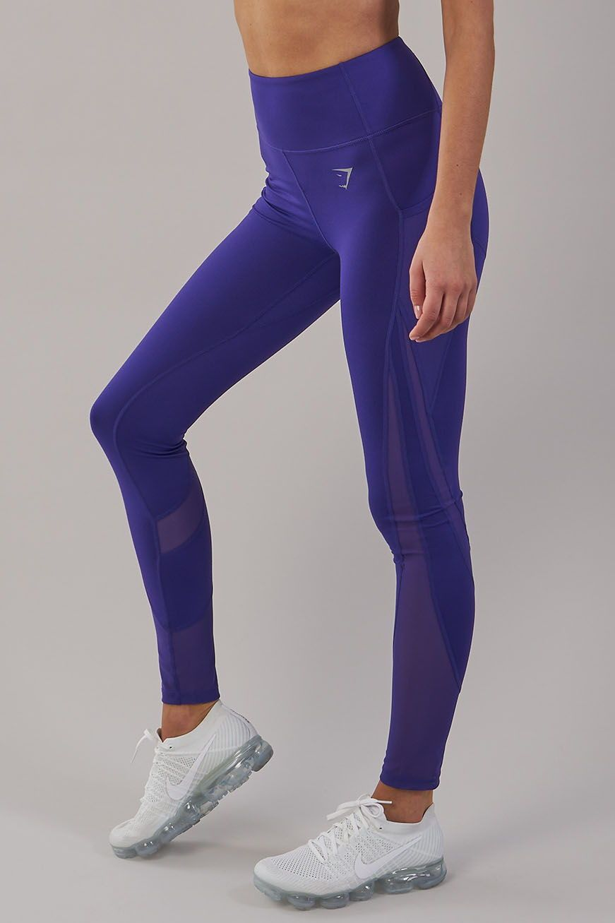 Must-have gym leggings. The Sleek Scuplture Leggings 2.0 feature a  flattering mid rise fit and mesh panelling. Now available in Indigo. 72abeb7ffb8