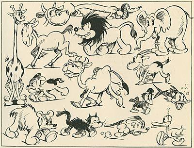 Resultado de imagem para old style disney characters