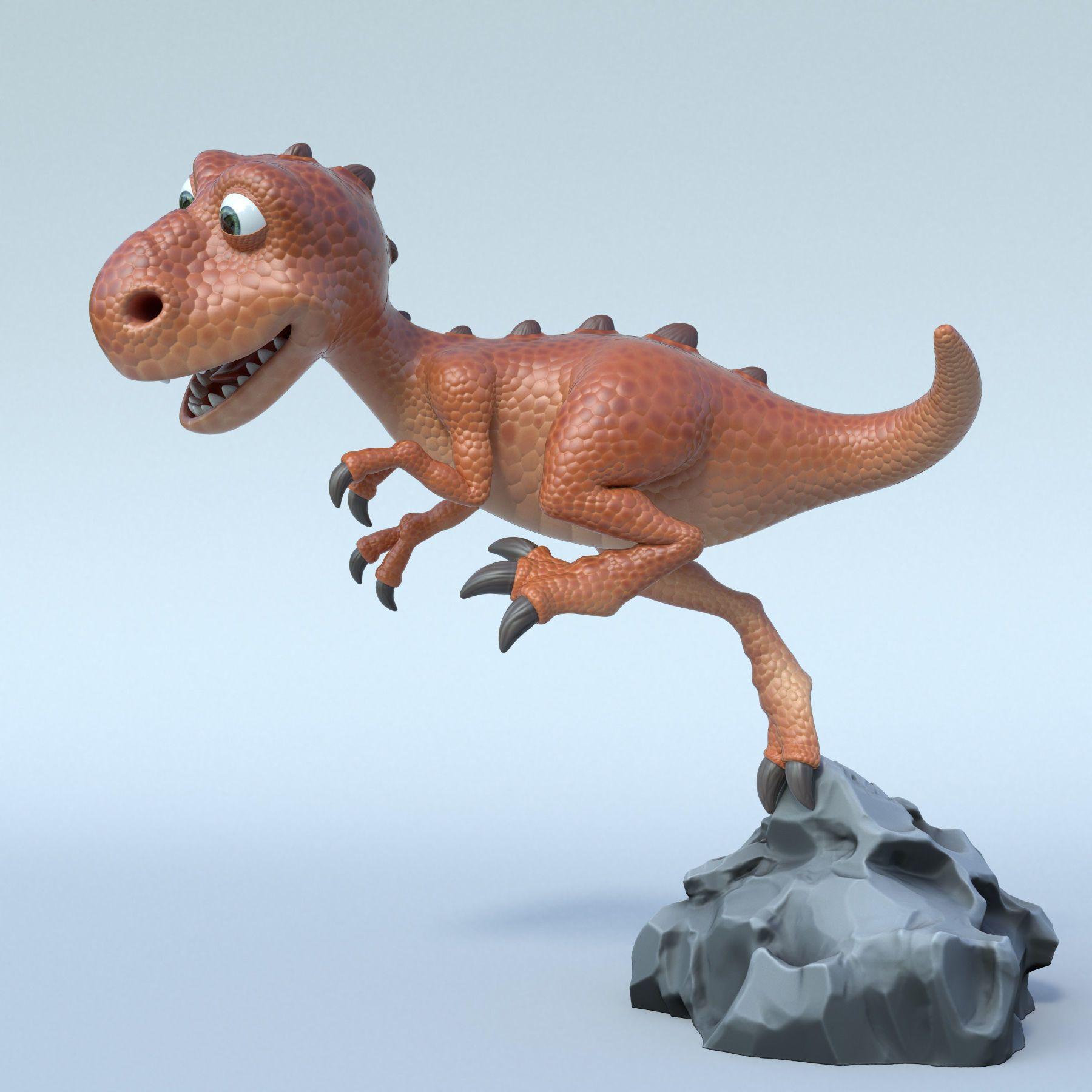 Cartoon trex 3D model (с изображениями) Динозавры