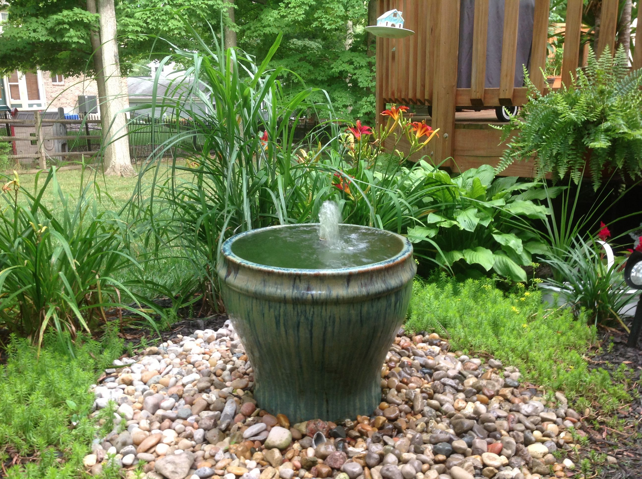Disearing Fountain I Used A Concrete Mixing Tub And Some On Clearance Grill Grates From Box