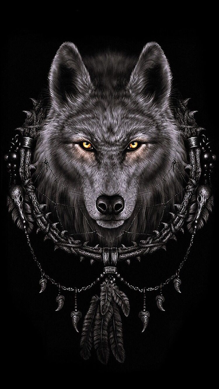 Wallpaper for ( iPhone 6 )😎 Wolf dreamcatcher, Wolf