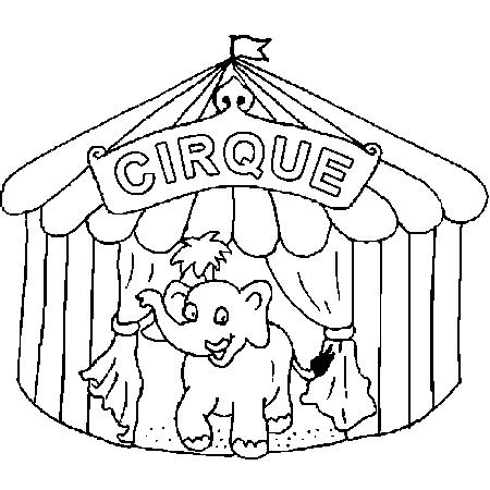 Dessin du cirque a colorier dessin colorier et dessin non colorier pinterest - Dessin d un chapiteau de cirque ...