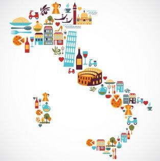 Word Of The Week Viaggiare Cartes Illustrees Carte Italie Et