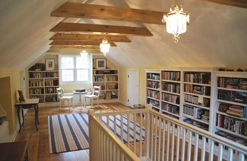 14 Charming Attic Libraries And Reading Rooms Atticbedroom In 2020 Attic Library Reading Room Secret Rooms