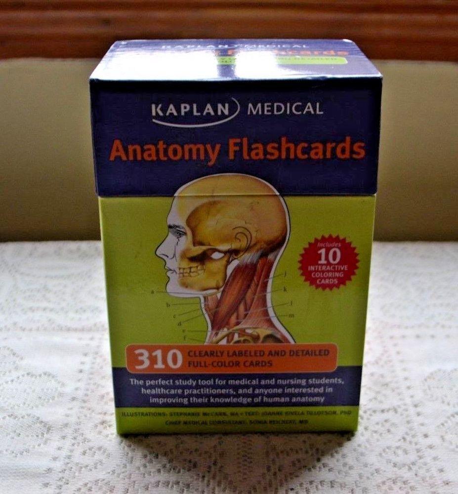 Kaplan Medical Anatomy Flashcards 310 Full Color 2nd Edition Nursing ...
