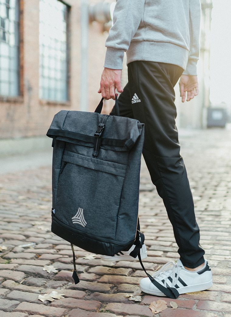 2c7f3285cc3e adidas Tango Crosby Backpack - Hydroshield base protects against water.  Features a wipaeable ball shoe compartment