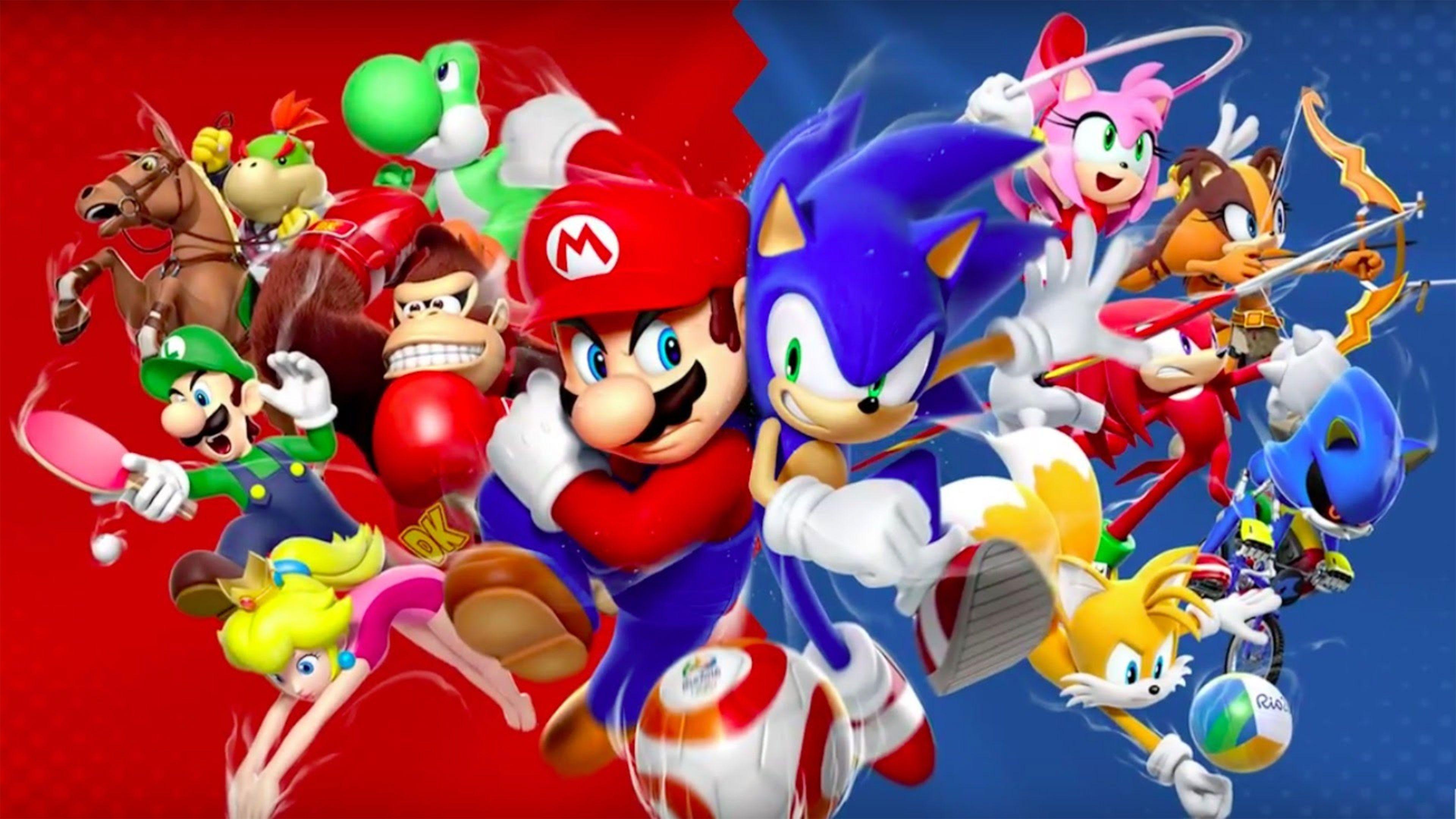 Mario Wallpaper Cartoons Anime Animated 97 Wallpapers 3d Wallpapers Sonic Mario Sonic Birthday