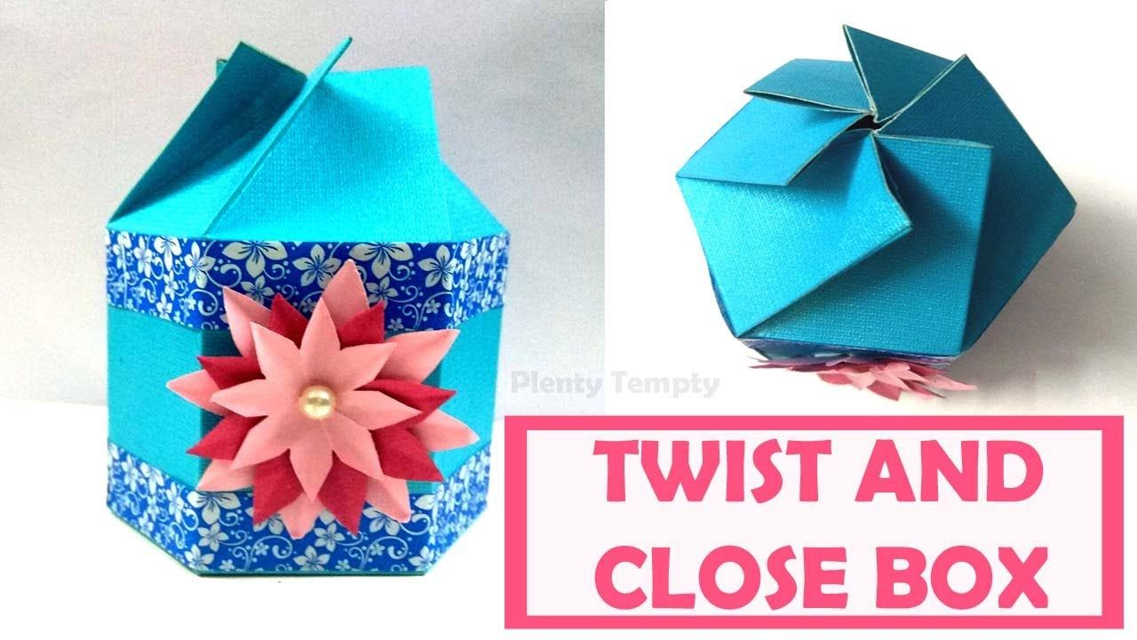 Gift Box Tutorial Twist And Close Paper Box How To Make Gift Box With Pa Small Diy Gifts Paper Gifts Paper Gift Box