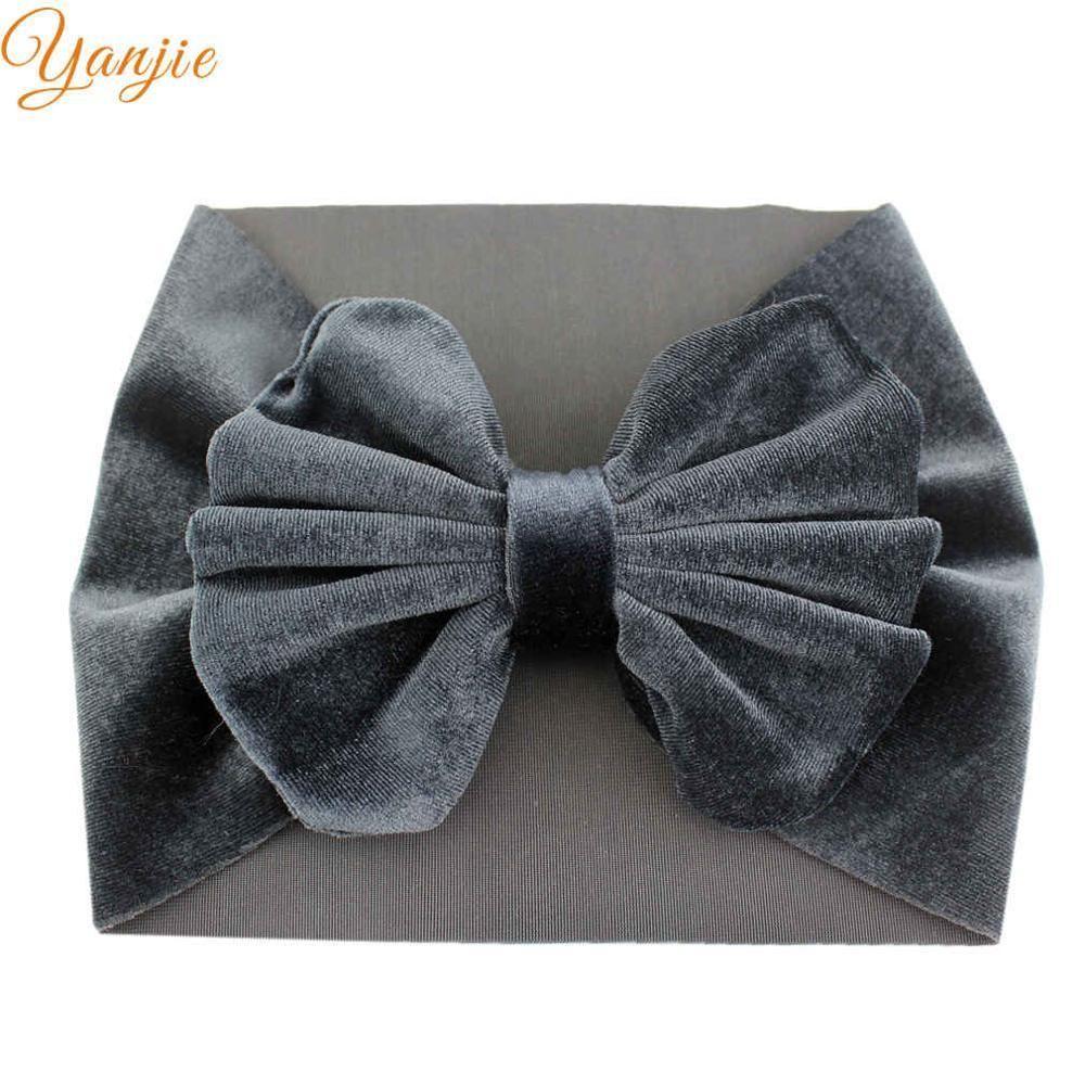 Velvet Bow Head Wrap  Bow Headband