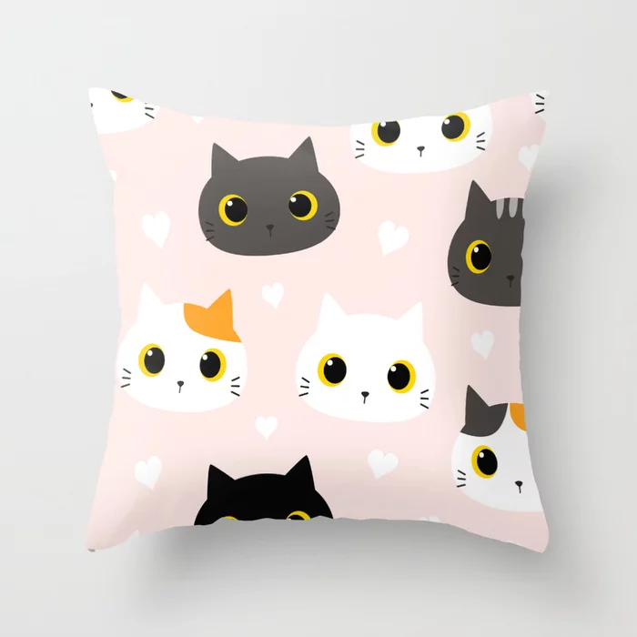 Buy Adorable Kittens Throw Pillow By Pattern Love Worldwide Shipping Available At Society6 Com Just One Of Milli Throw Pillows Pillows Designer Throw Pillows